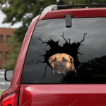 Bullmastiff Crack Car Sticker 06
