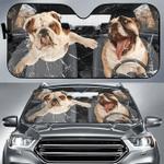 Bulldog Oh my god car sunshade