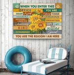 Sunflower Canvas Hanging Wall Print Art Decor Idea For Office Team - When You Enter