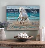 Horse Canvas Beach Wall Art Gift Idea For Daughter - I Hope You Dance