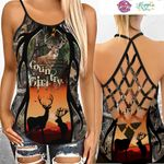 Deer Hunting Camo Criss Cross Tanktop 05