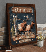 Deer Hunting Canvas Hanging Wall Print Art Decor Idea For Hunter - This Is Us Our Life
