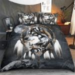 Native American Wolf Bedding Set