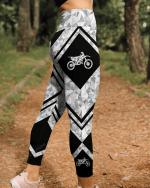 Motocross geometric leggings