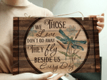 Dragonfly Those We Love Customized Wood Rectangle Sign