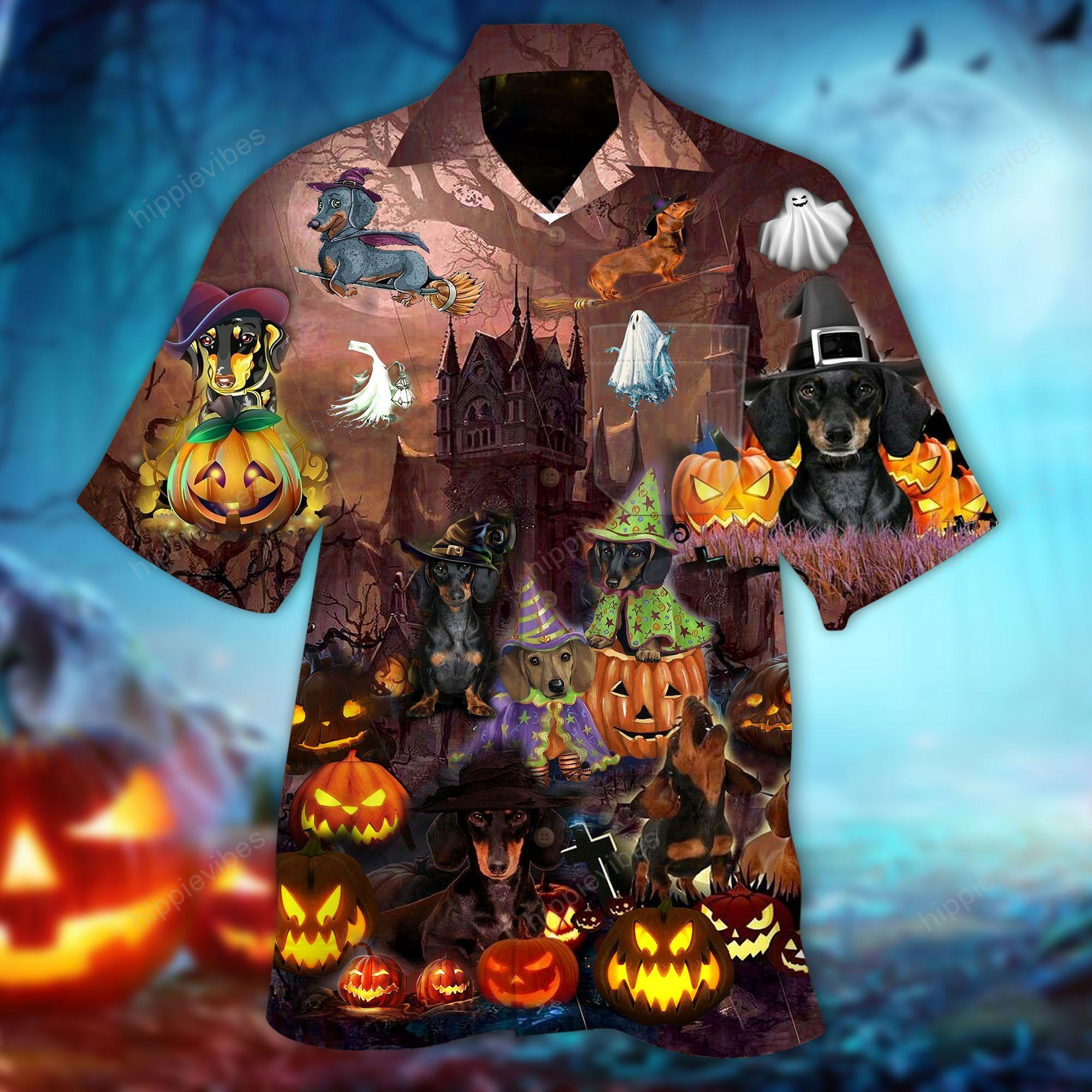Halloween Amazing Dachshund Hawaiian Shirt