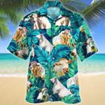 Men Charolais cattle Hawaii Shirt Green CHAROLAIS CATTLE LOVERS HAWAIIAN SHIRT