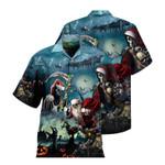 Santa Claus Skull Christmas Halloween Unisex Hawaiian Shirts KV