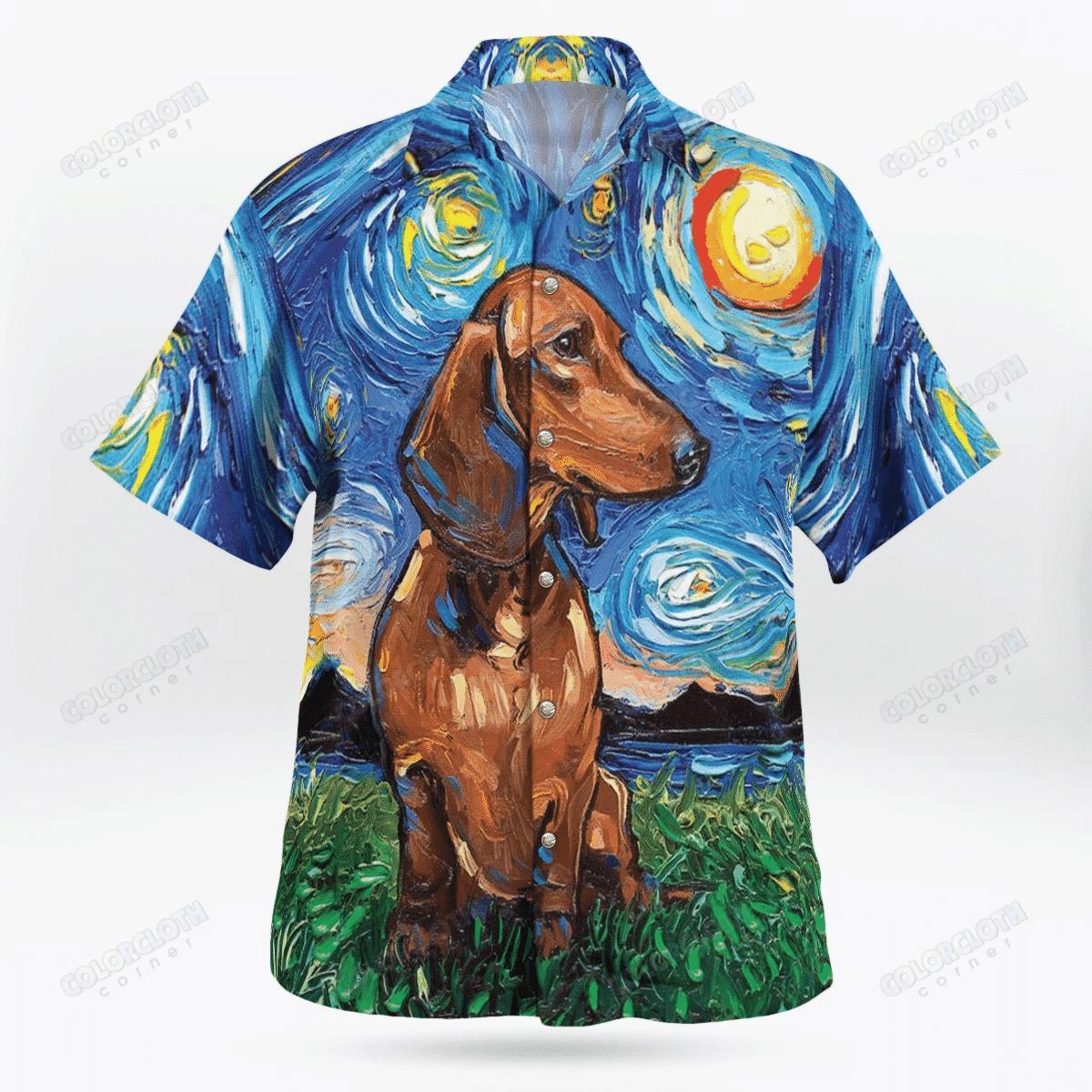 Dachshund Hawaii Shirt HT020803