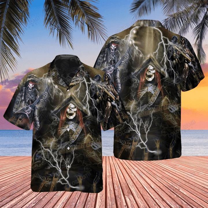 Amazing Guitar Skull Hawaii Shirts TV032328