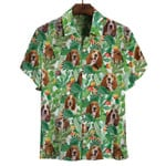 Basset Hound Hawaiian Shirt Cactus Mens Summer Shirts