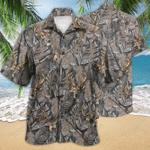 Deer Hunting Tropical Brown Pattern Hawaiian Shirt TV055866
