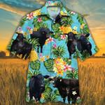 BRANGUS CATTLE LOVERS PINEAPPLE HAWAIIAN SHIRT Blue Brahman Angus Hawaii Shirt CATTLE LOVERS HAWAIIAN SHIRT