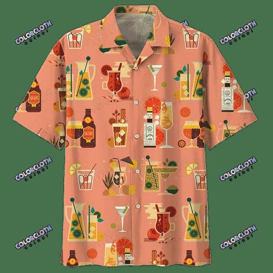 Cocktail Pinky Hawaii Shirt HT050707 skull