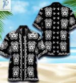 Pitbull Sugar Skull Halloween Unisex Hawaiian Shirts KV