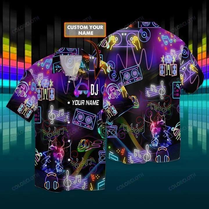 Custom Name DJ Colorful Hawaii Shirt HT280702