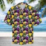 Tropical Purple Skull Hawaii Shirt