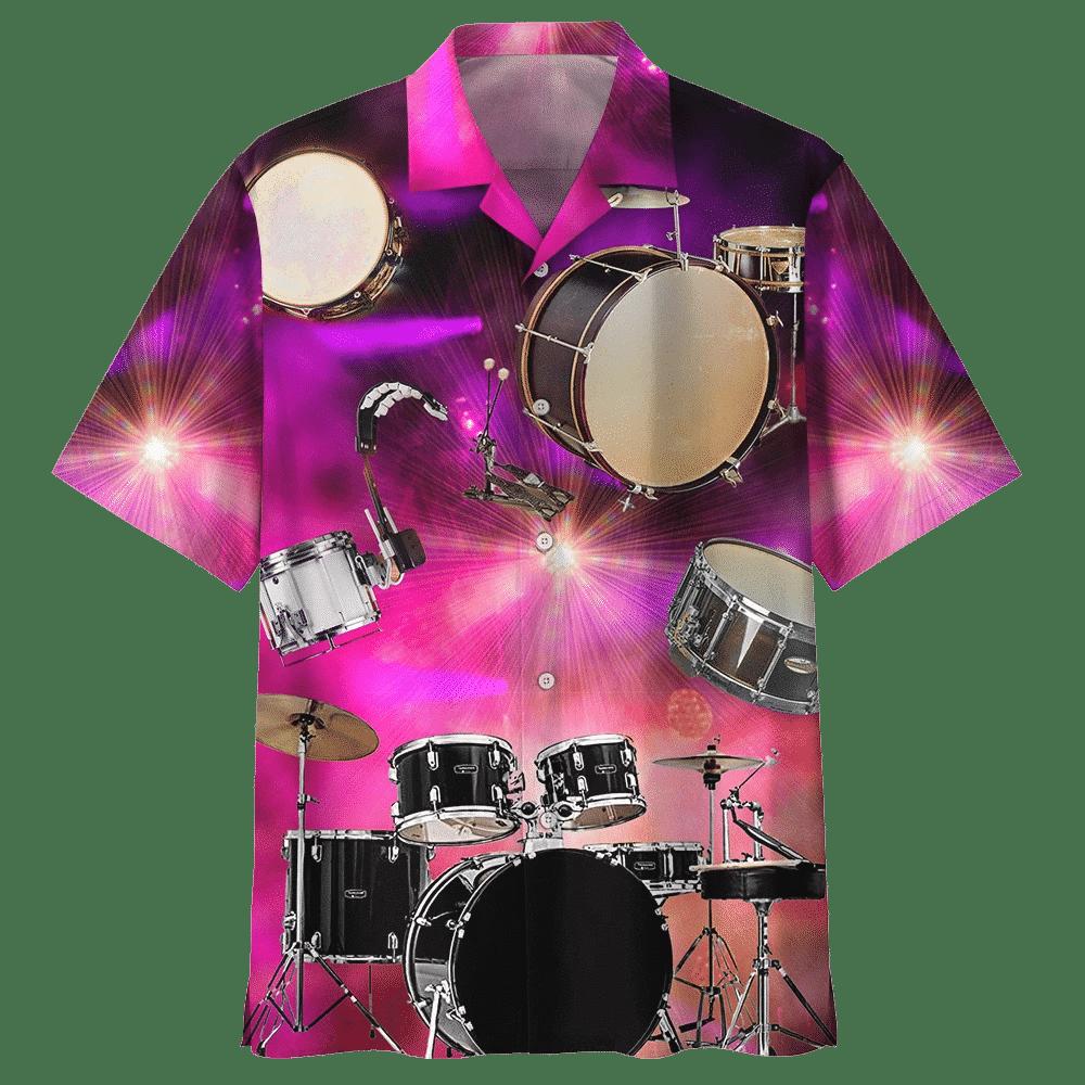 Man Hawaii Shirt Beach Shirt DRUM HAWAIIAN SHIRT 540547