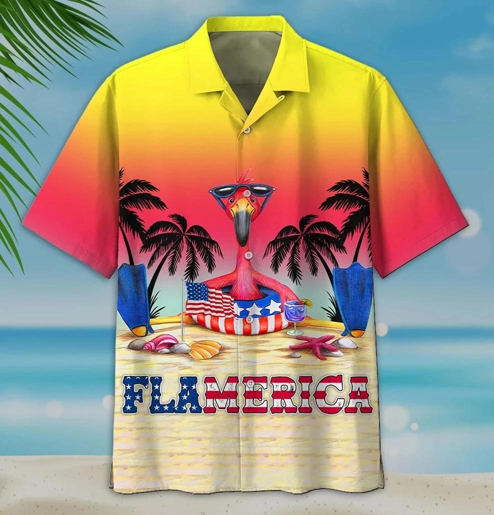 Summer Flamerica Hawaiian Shirt