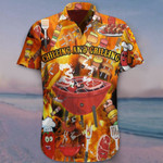 Chilling And Grilling Hawaiian Shirt Funny BBQ Shirt For Men Gift For Him