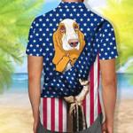 Basset Hound Hawaiian Shirt American Flag Shirt Endless Summer Shirt