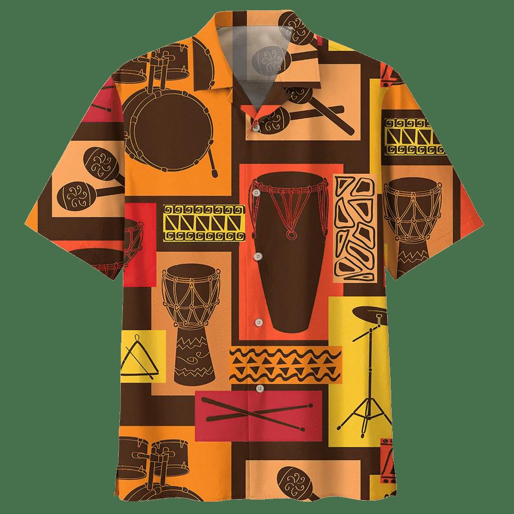 Man Hawaii Shirt Beach Shirt DRUM HAWAIIAN SHIRT 563619