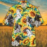 Appaloosa Horse Lovers Sunflower Watercolor Hawaiian Shirt