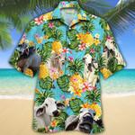 Men Brahman Hawaii Shirt Brahman Cattle Shirt Green Brahman Cattle Lovers Pineapple Hawaiian Shirt