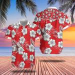 DD Hawaiian Shirt Dnd Dungeons And Dragons Hibiscus Flower Red Hawaiian Shirt Gift