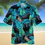 Men Brangus Hawaii Shirt Green Full Print Brahman Angus Hawaii Shirt CATTLE LOVERS HAWAIIAN SHIRT