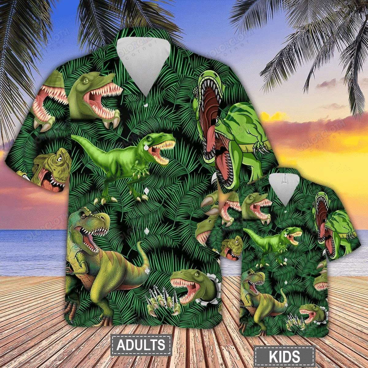Dinosaurs World Summer Hawaiian Shirt TV055882