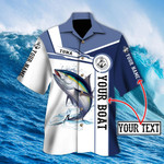 Custom name Tuna fishing Catch and Release 3D Design Fishing Hawaii Shirt
