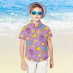 Taco Bell Kids Hawaiian Shirt Boys Hawaiian Aloha Shirt Gift for Little Boys