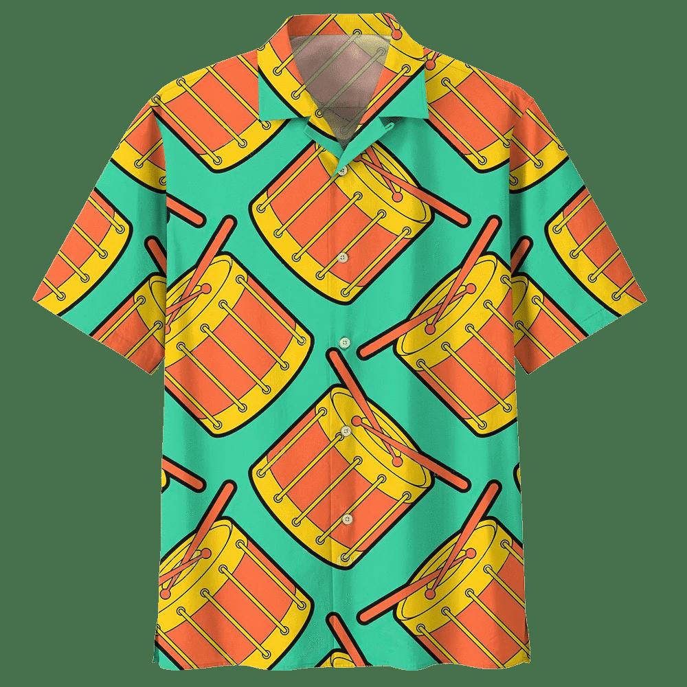 Man Hawaii Shirt Beach Shirt DRUM HAWAIIAN SHIRT 934526