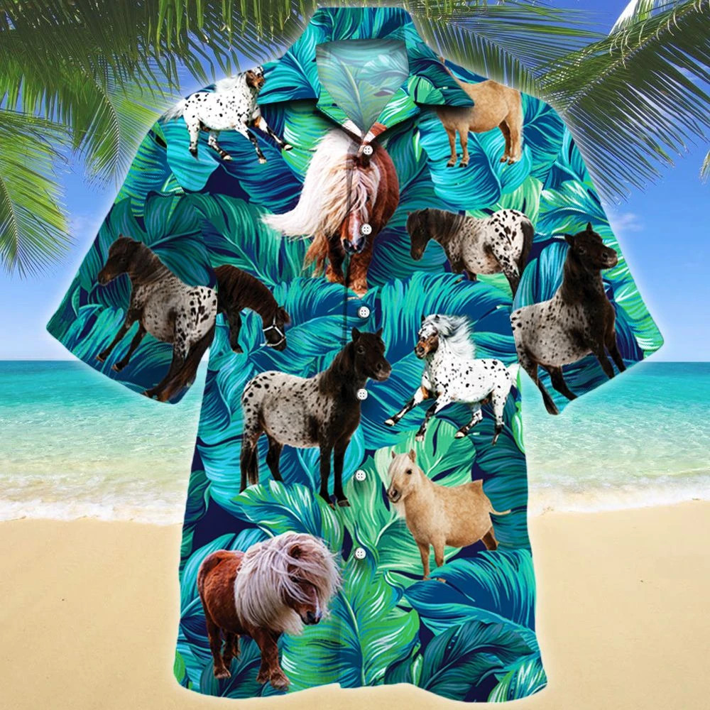 Miniature Horse Lovers Hawaii Shirt