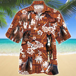 Clydesdale Horse Red Tribal Pattern Hawaii Shirt