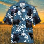BRANGUS CATTLE LOVERS BLUE TRIBAL PATTERN Hawaii Shirt Blue Brahman Angus Hawaii Shirt CATTLE LOVERS HAWAIIAN SHIRT
