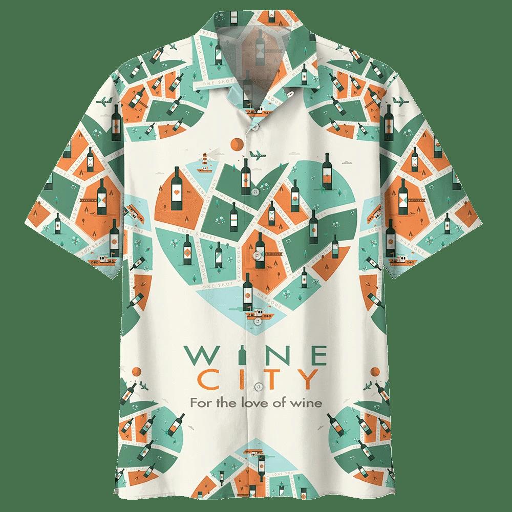 WINE HAWAIIAN SHIRT 532646
