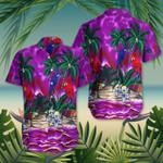 The Purple Haze Coconut Tree Parrot Hawaiian Shirt Beach Vacation Shirts Summer Birthday Gifts