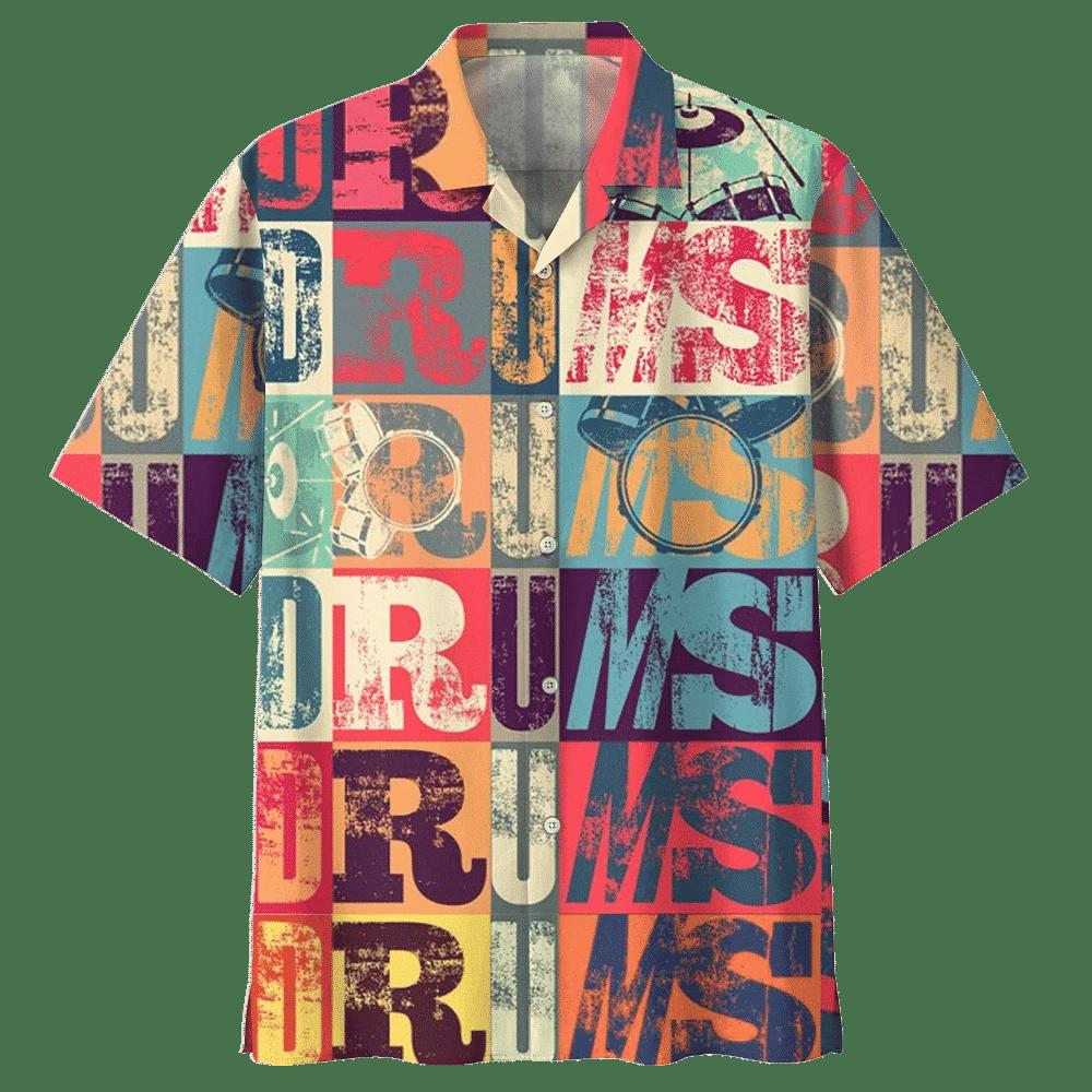 Man Hawaii Shirt DRUM HAWAIIAN SHIRT 703446