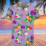 Taco Bell Hawaiian Shirt Pineapple Hibiscus Flower Tropical Button Up Shirt Gift
