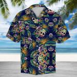 Tropical Blue Skull Hawaii Shirt