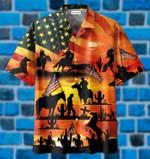 American Cowboy Sunset Full Printing Hawaiian Shirt 11821DH