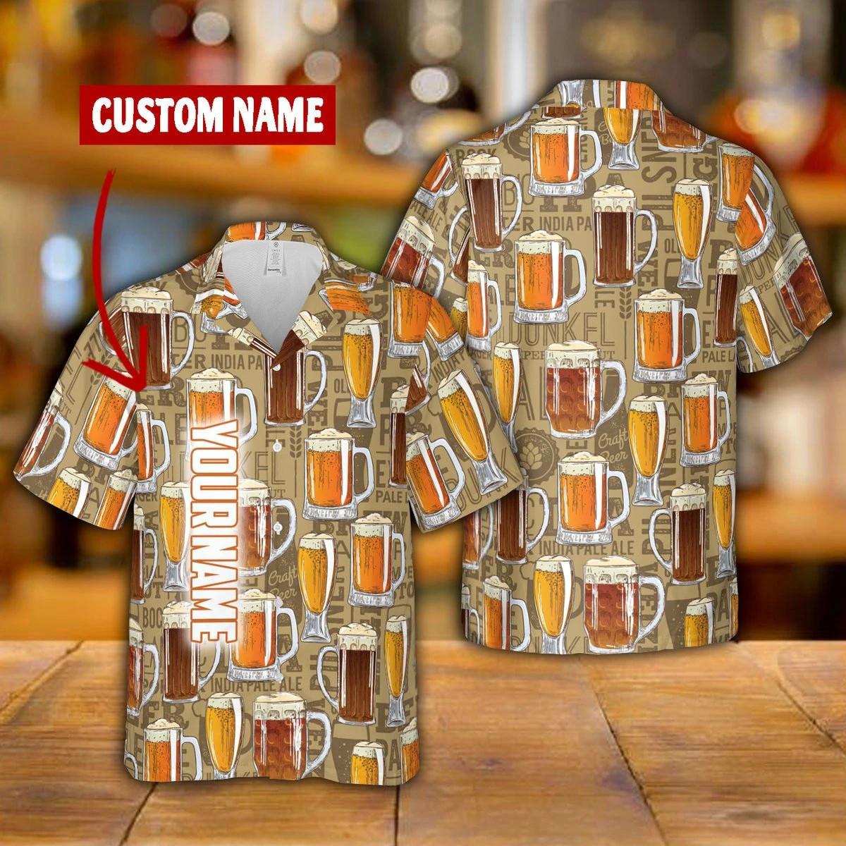 Beer Hawaii Shirt 3D Custom QA