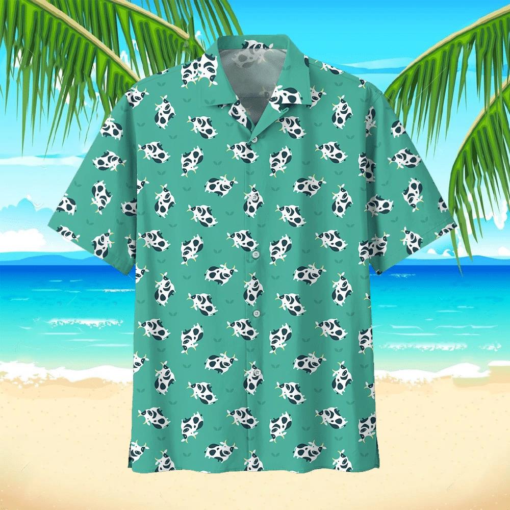 Cow Hawaiian Beach Shirt 2