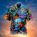 Skull Hippie Hawaiian Aloha Shirts KV