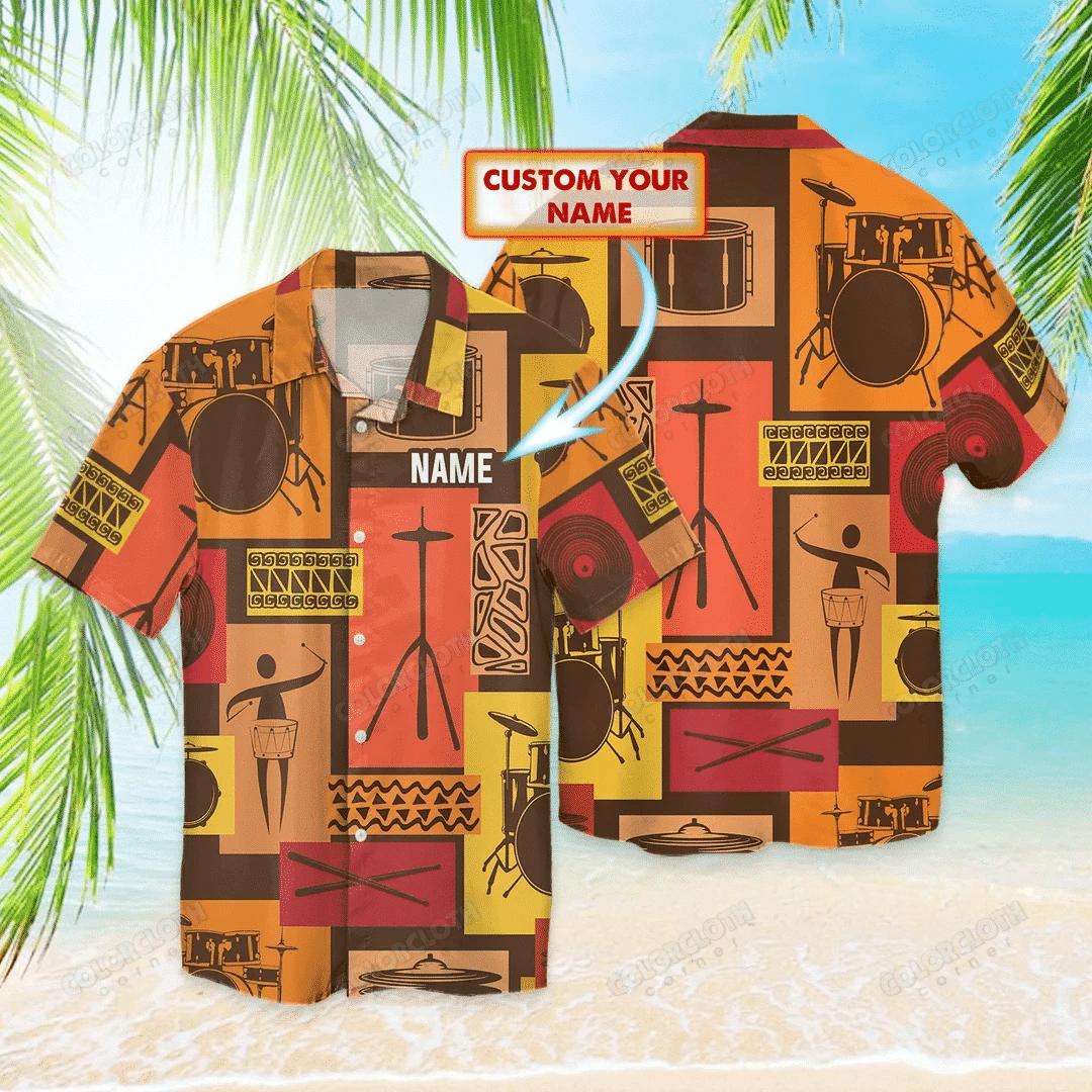 Amazing Drummer Music Personalized Hawaii Shirt HL05701