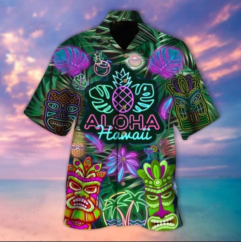 Aloha Hawaii Tiki Unisex Hawaiian Shirt TY295900