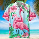 Flamingo Hawaiian Beach Shirt