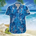 Lacrosse Time Blue Tropical Unisex Hawaiian Shirts - Beach Shorts